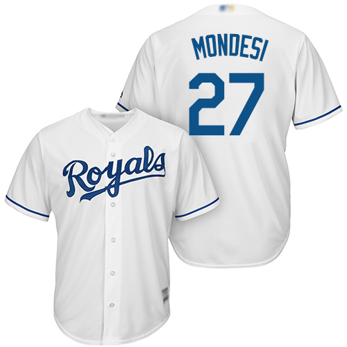 Royals #27 Raul Mondesi White Cool Base Stitched Youth Baseball Jersey