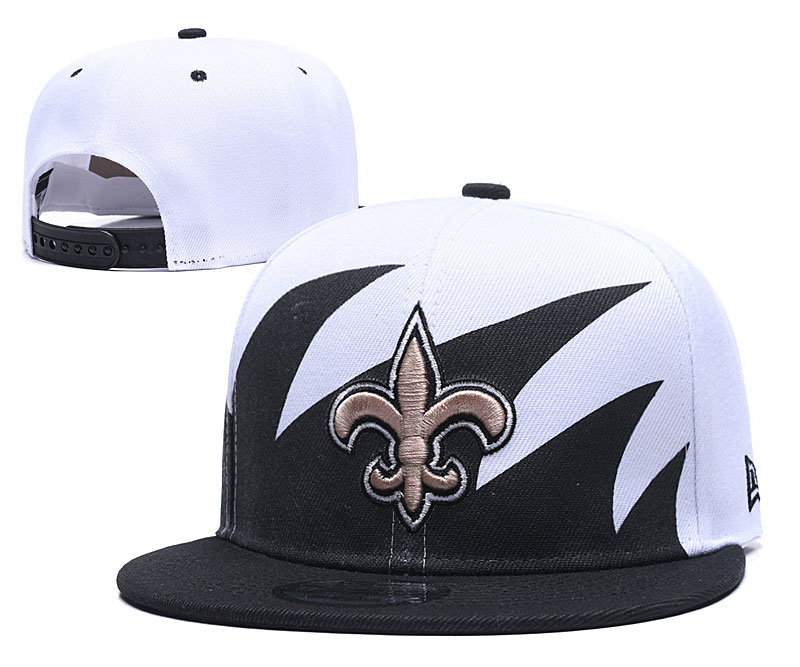 Saints Team Logo White Black Adjustable Hat GS