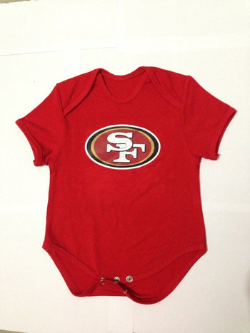 San Francisco 49ers Infant TD Creeper Set - Scarlet