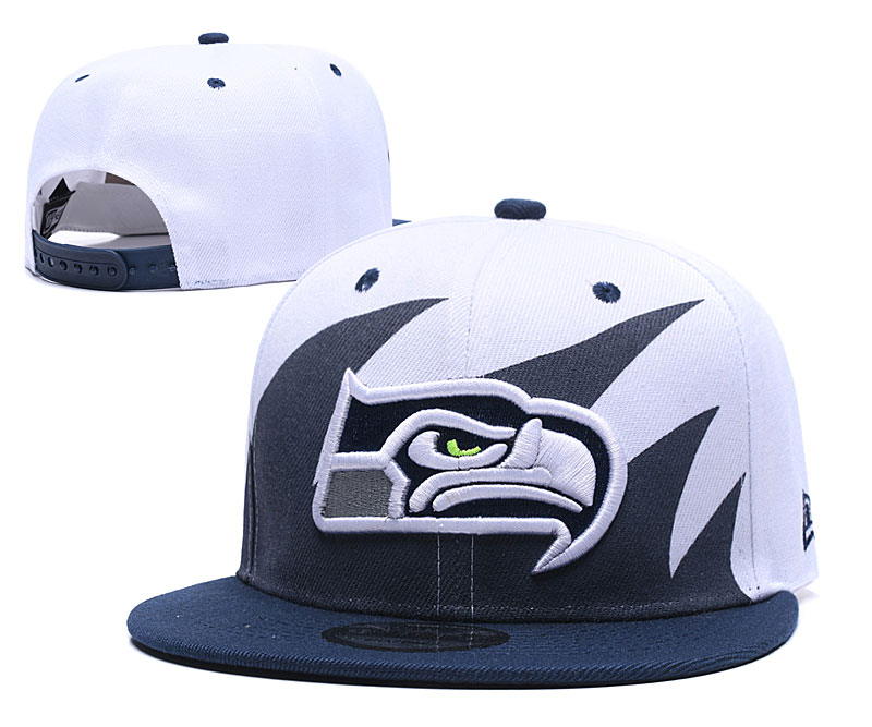 Seahawks Team Logo White Adjustable Hat GS