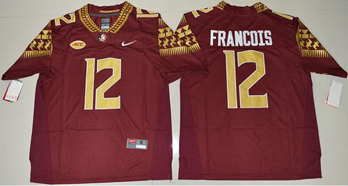 Seminoles #12 Deondre Francois Red Limited Stitched NCAA Jersey