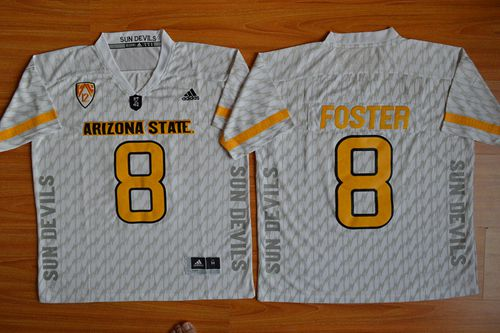 Sun Devils #8 D. J. Foster New White Stitched NCAA Jersey