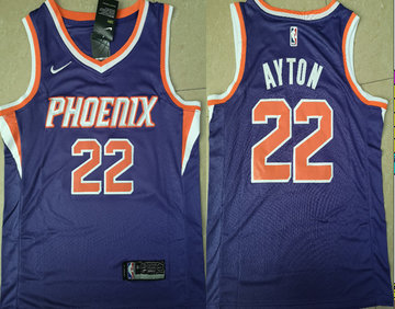 Suns 22 Deandre Ayton Purple Nike Swingman Jersey(Without The Sponsor Logo)