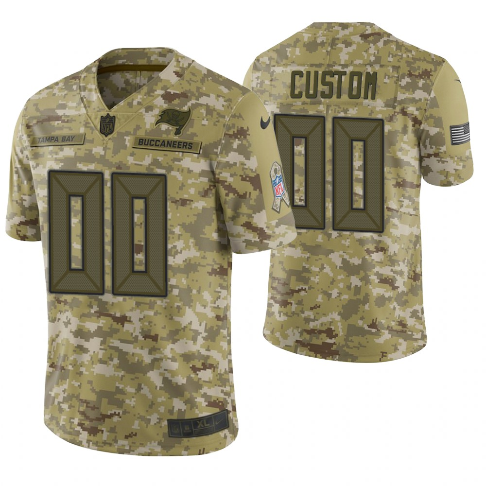 Tampa Bay Buccaneers Custom Camo 2018 Salute to Service Limited Jersey