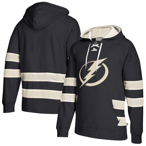 Tampa Bay Lightning Navy Men's Customized All Stitched Hooded Sweatshirt Black