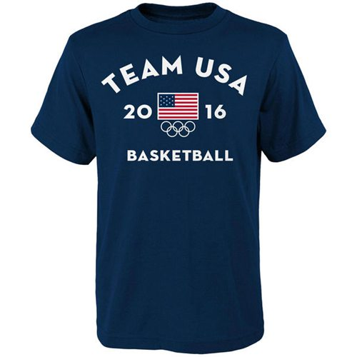 Team USA Basketball Very Official National Governing Body T-Shirt Navy