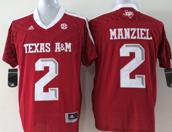Texas A&M Aggies 2 Johnny Manziel Red College Football Jersey