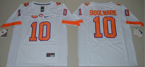 Tigers #10 Ben Boulware White Limited Stitched NCAA Jersey