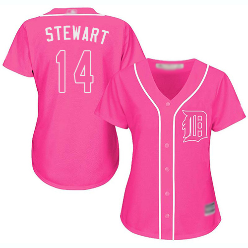 Tigers #14 Christin Stewart Pink Fashion Women's Stitched Baseball Jersey