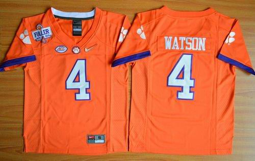 Tigers #4 Deshaun Watson Orange 2016 National Championship Stitched Youth NCAA Jersey