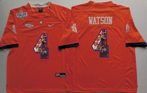 Tigers #4 Deshaun Watson Orange Player Fashion Stitched NCAA Jersey