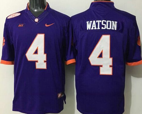 Tigers #4 Deshaun Watson Purple Limited Stitched NCAA Jersey