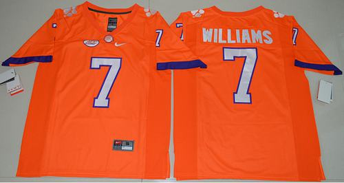 Tigers #7 Mike Williams Orange Limited Stitched NCAA Jersey
