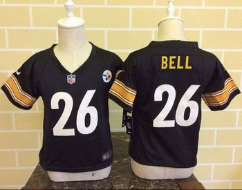 Toddler Nike Pittsburgh Steelers #26 Le'Veon Bell Black Team Color Stitched NFL Elite Jersey
