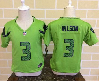 Toddler Nike Seahawks #3 Russell Wilson Green Alternate Stitched NFL Elite Jersey