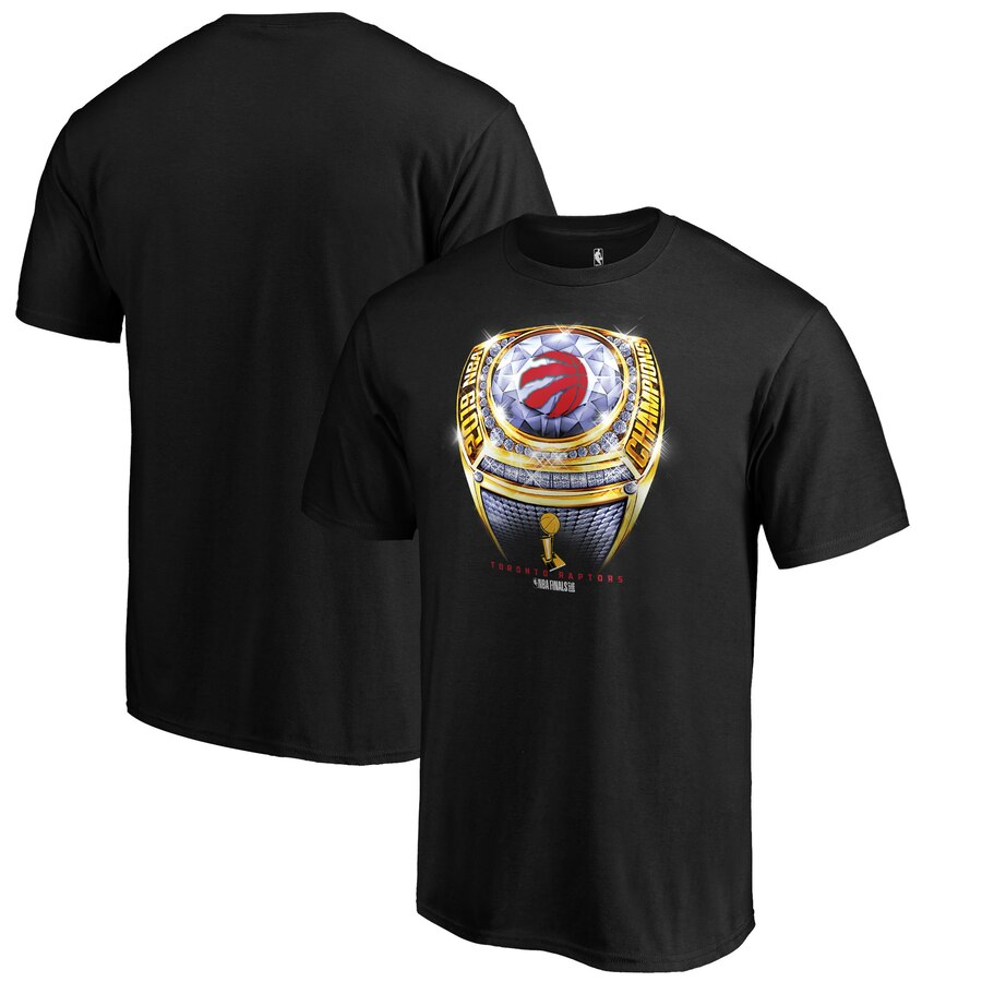 Toronto Raptors Fanatics Branded 2019 NBA Finals Champions Bling Beauty Ring T-Shirt Black