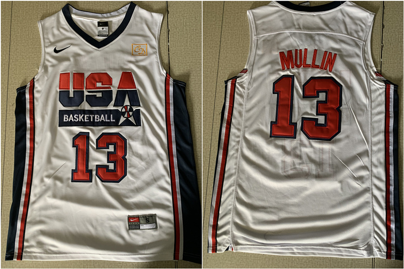 USA Basketball 1992 Dream Team 13 Chris Mullin White Jersey