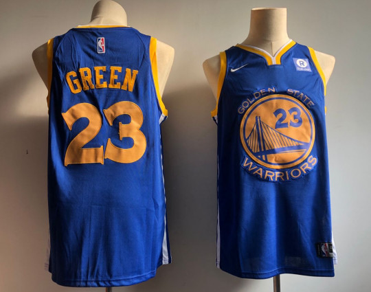Warriors 23 Draymond Blue White Nike Swingman Jersey