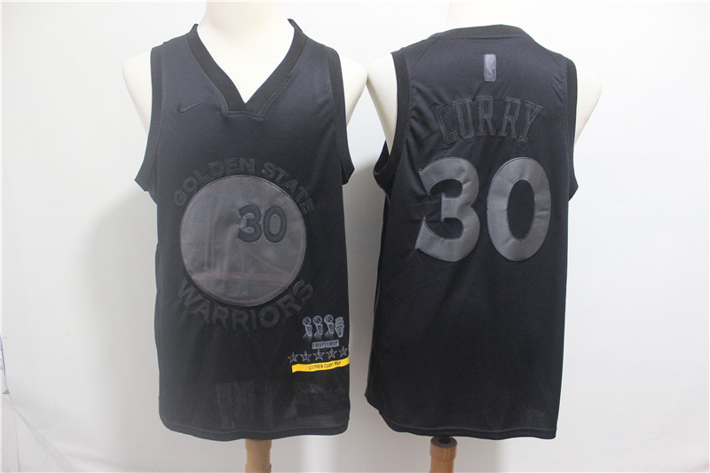 Warriors 30 Stephen Curry Black Nike Swingman MVP Jersey