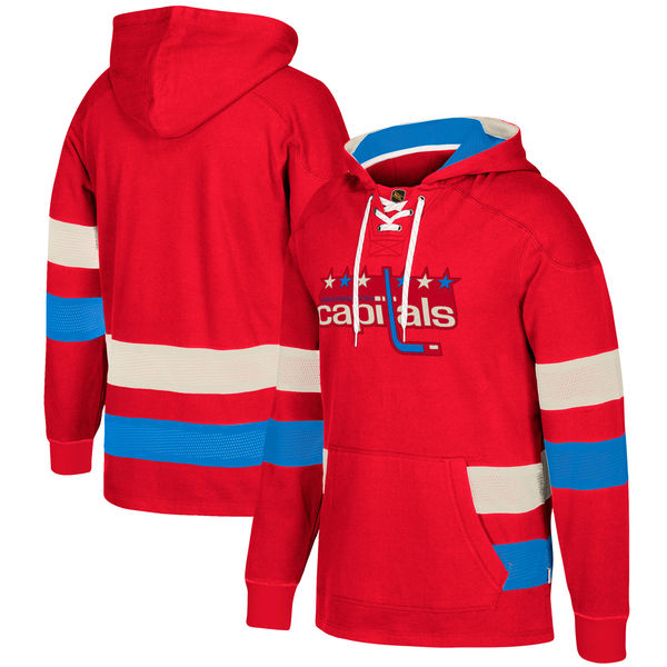 Washington Capitals Red Men's Customized All Stitched Hooded Sweatshirt