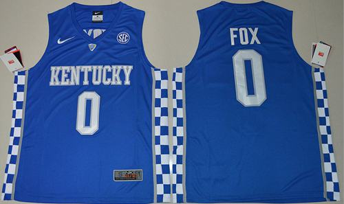 Wildcats #0 De'Aaron Fox Royal Blue Basketball Elite Stitched NCAA Jersey