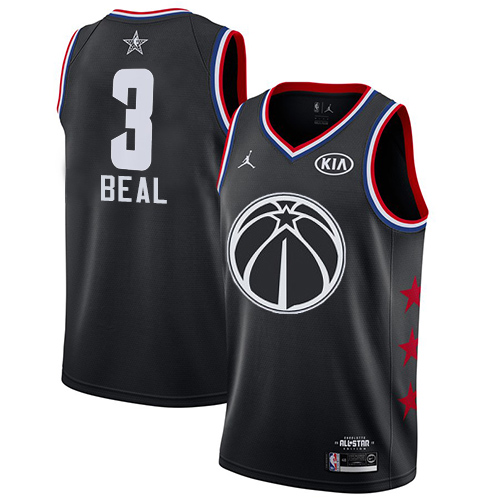 Wizards #3 Bradley Beal Black Basketball Jordan Swingman 2019 All-Star Game Jersey