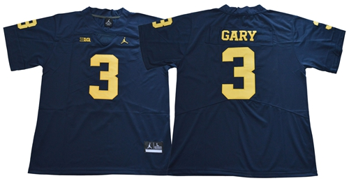Wolverines #3 Rashan Gary Navy Blue Jordan Brand Limited Stitched NCAA Jersey