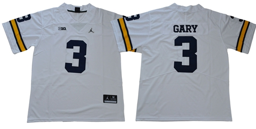 Wolverines #3 Rashan Gary White Jordan Brand Limited Stitched NCAA Jersey$49.00$22.50