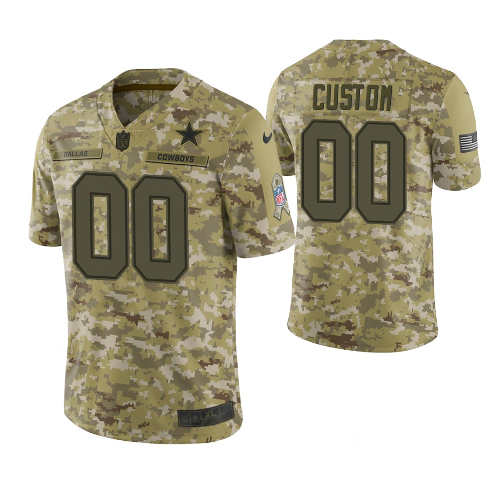 Youth Dallas Cowboys Custom Camo 2018 Salute To Service Game Jersey
