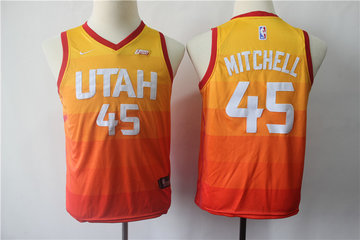 25827652e Youth Jazz 45 Donovan Mitchell Multi Color City Edition Youth Nike Swingman  Jersey