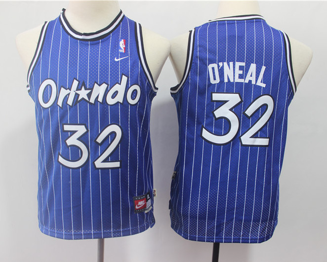 Youth Magic 32 Shaquille O'neal Blue Youth Throwback Jersey