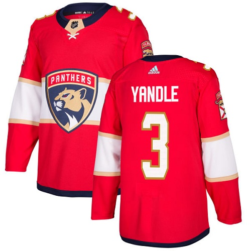 Youth Panthers #3 Keith Yandle Red Home Authentic Stitched Youth Hockey Jersey