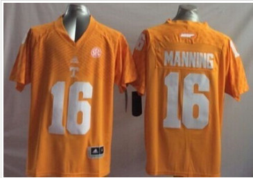 Youth Tennessee Vols #16 Peyton Manning Orange Stitched NCAA Jersey