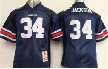 Youth Tigers #34 Bo Jackson Blue Stitched NCAA Jersey