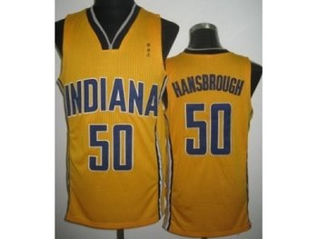 nba north carolina #50 tyler hansbrough yellow(revolution 30)