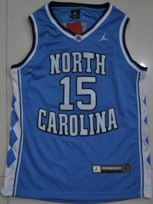 north carolina #15 vince carter blue embroidered ncaa jersey